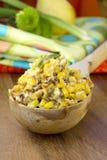 Ensalada de maíz imagen de archivo libre de regalías