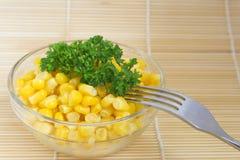 Ensalada de maíz Foto de archivo libre de regalías