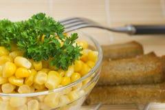 Ensalada de maíz Imagenes de archivo