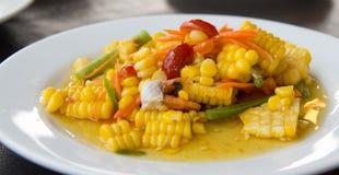 Ensalada de maíz tailandesa Foto de archivo libre de regalías