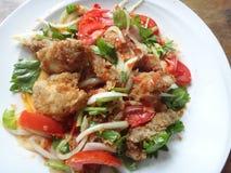 Ensalada de pollo frito Imagen de archivo