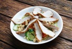 Ensalada de pollo mediterránea del anacardo Fotografía de archivo libre de regalías