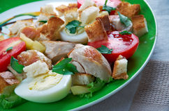 Ensalada de poulet cezar Photo stock