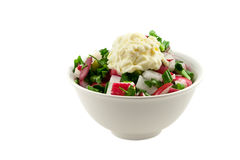 Ensalada de verduras frescas Foto de archivo libre de regalías