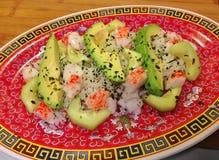 Ensalada Deconstructed del sushi del rollo de California Imágenes de archivo libres de regalías