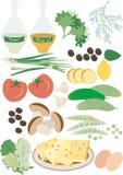 Ensalada del alimento sano. Pattern.Background Imagen de archivo libre de regalías