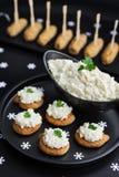 Ensalada del aperitivo de la coliflor y de la mayonesa fotos de archivo libres de regalías