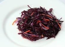 Ensalada del cabbadge rojo Foto de archivo libre de regalías
