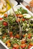 Ensalada del calabacín de los tomates de las habas verdes Fotografía de archivo