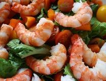 Ensalada del camarón Fotos de archivo
