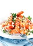 Ensalada del camarón Foto de archivo libre de regalías