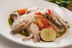 Ensalada del cangrejo tailandesa Fotografía de archivo libre de regalías