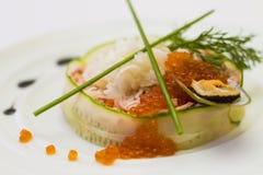 Ensalada del caviar rojo Imagenes de archivo