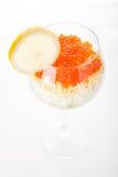 Ensalada del coctel con el caviar Fotos de archivo