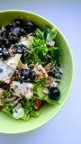 Ensalada del Griego de las verduras frescas imagenes de archivo