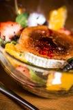 Ensalada del queso de cabra Foto de archivo