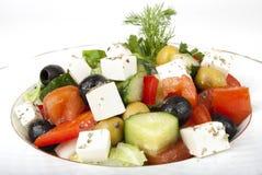 Ensalada del queso Feta con los tomates Fotos de archivo libres de regalías
