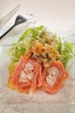 Ensalada del salmón ahumado de la langosta Fotos de archivo libres de regalías