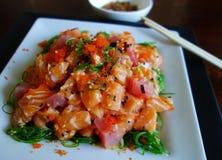 Ensalada del Sashimi Fotos de archivo