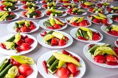 Ensalada del tomate con el pepino Imagenes de archivo