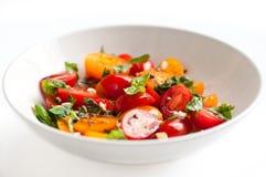 Ensalada del tomate de cereza Fotos de archivo libres de regalías