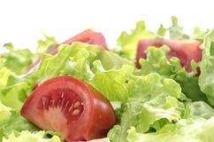 Ensalada del tomate y de la lechuga Foto de archivo libre de regalías