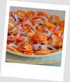 Ensalada deliciosa del tomate imagen de archivo libre de regalías
