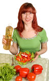 Ensalada dietética Imágenes de archivo libres de regalías