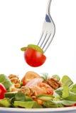 Ensalada en fork Imagen de archivo libre de regalías