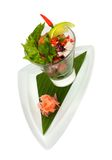 Ensalada exótica fresca del coctail de los mariscos Fotos de archivo libres de regalías