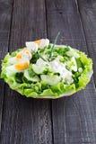 Ensalada fresca con el pepino Imagen de archivo