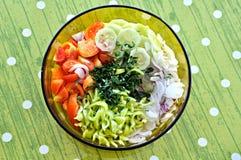 Ensalada fresca de la verdura del verano Foto de archivo