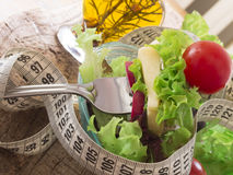 Ensalada fresca y sana, concepto de la dieta Fotos de archivo