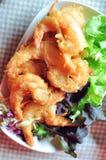 Ensalada frita del camarón Imágenes de archivo libres de regalías