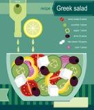 Ensalada griega stock de ilustración
