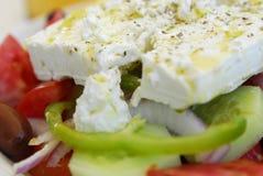 Ensalada griega del queso de queso Feta foto de archivo