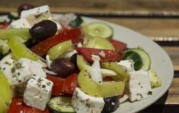 Ensalada griega deliciosa de las verduras Fotografía de archivo libre de regalías