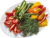 Ensalada hecha en casa natural de las verduras frescas Fotografía de archivo libre de regalías