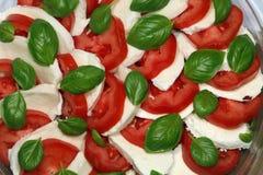 Ensalada italiana de Caprese Imagenes de archivo