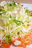 Ensalada japonesa del queso de soja Fotos de archivo libres de regalías