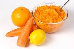 Ensalada marroquí de la zanahoria con la naranja Fotografía de archivo