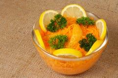 Ensalada marroquí de la zanahoria con la naranja Imágenes de archivo libres de regalías
