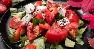 Ensalada orgánica de Grecia de la dieta sana Fotografía de archivo libre de regalías
