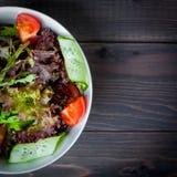 Ensalada orgánica de las verduras frescas, comida sana Foto de archivo