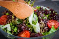 Ensalada orgánica de las verduras frescas, comida sana Fotografía de archivo