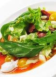 Ensalada - pecho de pato con la salsa roja de Chaud-Froid Fotos de archivo
