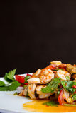 Ensalada picante caliente y amarga Alimento tailandés - fritada #6 del Stir imágenes de archivo libres de regalías