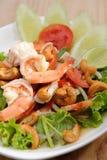 Ensalada picante del camarón Fotos de archivo
