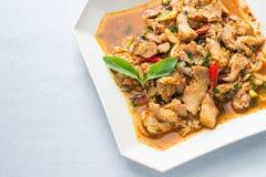 Ensalada picante del cerdo de la cocina tailandesa, Moo Nam Tok Fotos de archivo