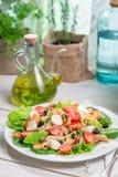 Ensalada sana con las verduras frescas Foto de archivo libre de regalías